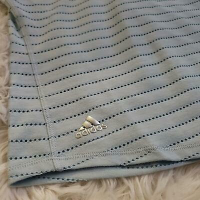 Adidas Climacool Pullover Polo Top Girls Size Medium Blue Short Sleeves