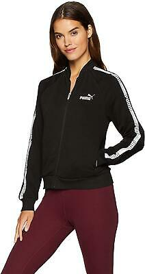 Puma girls black zip up jacket with Puma logo sleeves. Sweat top. Various sizes!