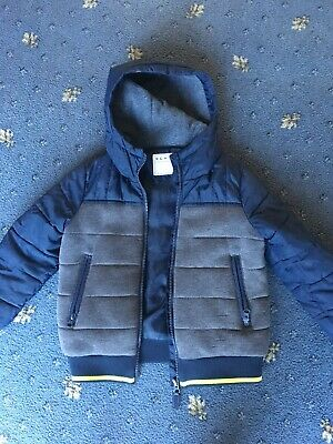 Boys Warm Padded Coat In Excellent Condition Age 5-6 Years