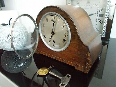 a super ornate antique art deco westminster chime  mantel clock