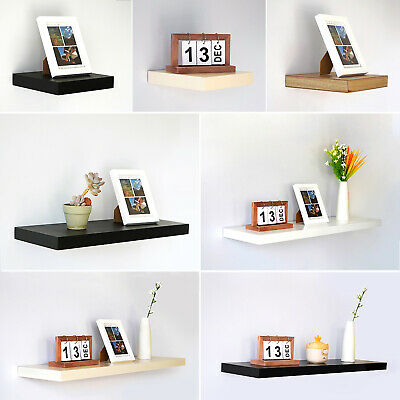 High Gloss Floating Shelves Wall Hanging Shelf Unit Bathroom Display Storage