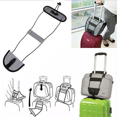 Add A Bag Strap Travel Luggage Suitcase Adjustable Belt Carry On Bungee EasyFB