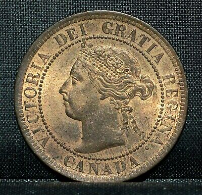 1901 Canada Large Cent ✪ Ch-Bu Uncirculated ✪ 1C Choice L@@K Penny ◢Trusted◣