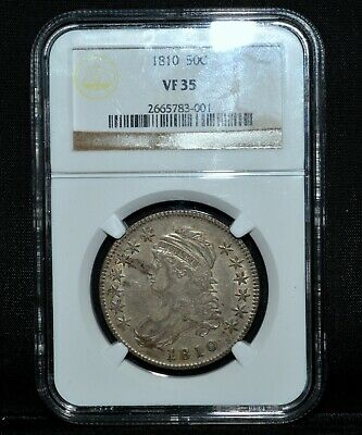 1810 Capped Bust Half Dollar ✪ Ngc Vf-35 ✪ 50C Very Fine Silver L@@K ◢Trusted◣