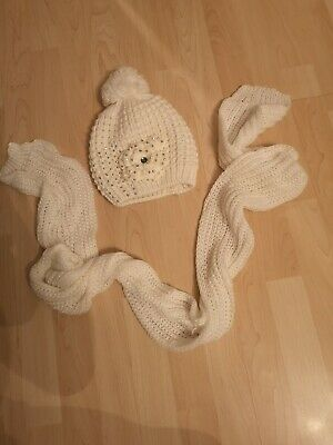 Ladies Soft Bobble Hat, jewel embellished And Scarf Set, worn once, immaculate