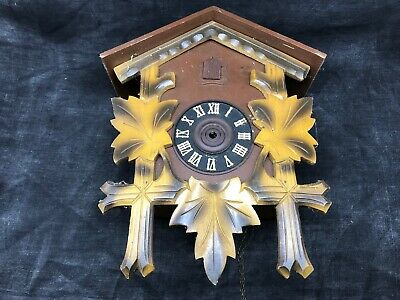Antique Cuckoo, Control West Germany Cash Wooden Clock Pendulum