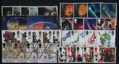 Gb Complete Year All 8 Sets Commemorative Stamps Issued In 1991 Unmounted Mint