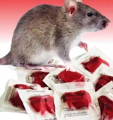 """""""This Stuff Really Works"""" Rodent Rat Control Bait Poison 20 Packets 200+ Grams"""