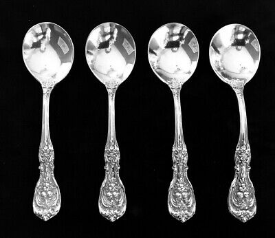 Reed & Barton FRANCIS 1 Sterling Bouillon Spoons Round Bowl Old Mark Set of 4