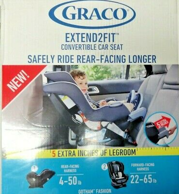 Graco Extend2fit Convertible Car Seat 1963212 - Gotham Fashion -NEW-