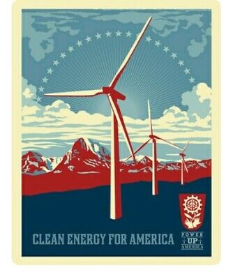 CLEAN ENERGY FOR AMERICA PRINT SHEPARD FAIREY OBEY GIANT LITHOGRAPH POSTER 24x36