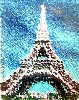 "Latch Hook Rug  Kit   ""The Eiffel Tower"" Size 15"" X 20"""