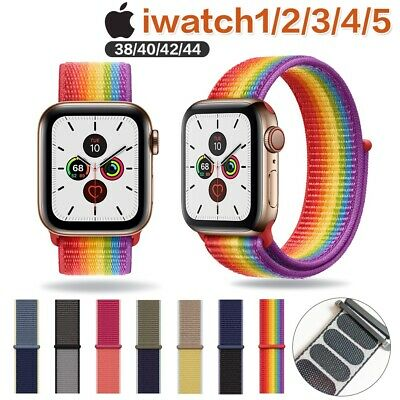 Für Apple Watch Nylongewebe Sport Loop Armband Series 1 2 3 4 5 38/40mm 42/44mm