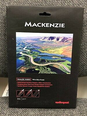 Audioquest Mackenzie 2.0M Pair RCA Interconnect Cable (Used)
