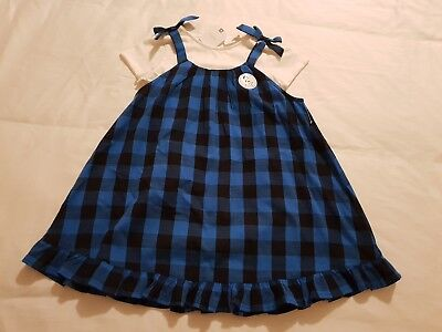 Girl 2 Piece Set Outfit Pinafore Dress & Top / Tee NEXT age 3-4 years BRAND NEW