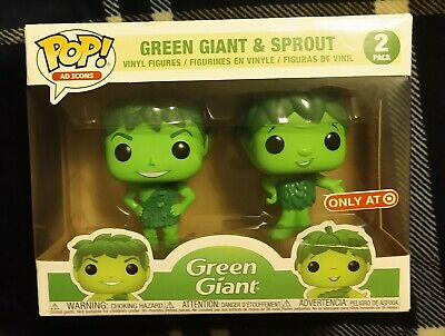 Funko Pop! Green Giant And Sprout, Non Metallic In 2 Pack Box (READ!)