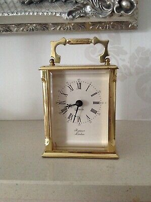 Rapport London Solid Brass Case Quartz Carriage Clock