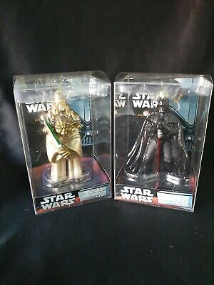 Lot of 2 Star Wars Kurt S Adler Holiday Ornaments Yoda &  Darth Vader  Brand New