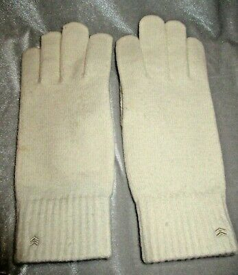 VTG ARIS 115 One Size Fits Most Ivory Acrylic Lycra Faux Suede Palms Gloves Warm