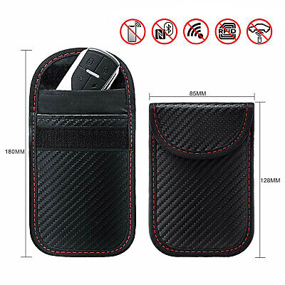 Car Key Signal Blocker Case Pouch Bag Black Faraday Cage Keyless RFID Blocking H