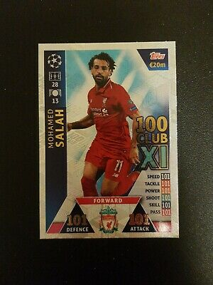 Match Attax Champions League 2018/19 Hundred 100 Club Salah Liverpool