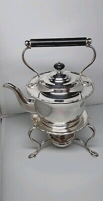 Antique Silver Plated Spirit Kettle on Stand ~Hukin & Heath