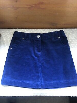 John Lewis Girls Blue Corduroy Skirt Age 6 With Adjustable Waist