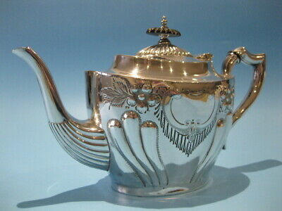 Beautiful Superb Quality Antique Silver Plated Ornate Repousse Victorian Teapot