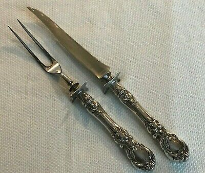 Reed & Barton FRANCIS 1 Sterling Silver Carving Knife and Fork Old Marks