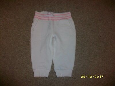Girls White Cropped Jogging Pants Age 4-5 Years from George