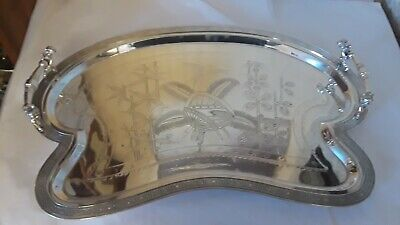 Antique Victorian silver plate Butlers tray Simpson Hall Miller