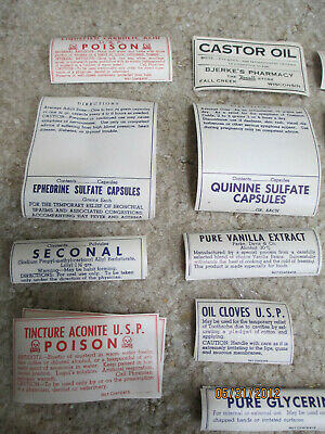 Medical Pharmacy  Original Labels 40 labels - 20 different