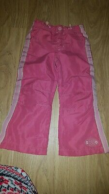 Girls Girl2girl Pink/white thin/light trousers....age 2-3 years