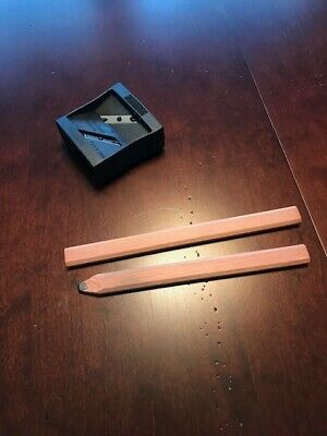 Flat Sketching Pencils And Sharpener General Co Made In Usa