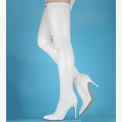 Sexy High Heel Pointed Stretch Fetish SM Women's Over The Knee Thigh Boots Club