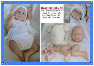 Reborn Doll Kit Only #101 Soft Vinyl 6065 ( DOES NOT COME WITH CLOTH BODY. )