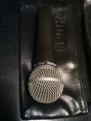 2 LOT 1 Shure SM58Dynamic Vocal Microphone Used+1 Mic Cable NEW 25FT NO RETURNS