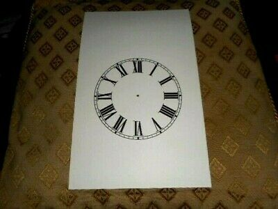 "Steeple Paper (Card) Clock Dial- 4 1/4"" M/T - Roman - MATT CREAM - Parts/Spares"