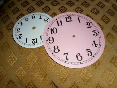 "Round Paper (Card) Clock Dial - 5"" Minute Track - MATT PINK - Arabic- Parts"