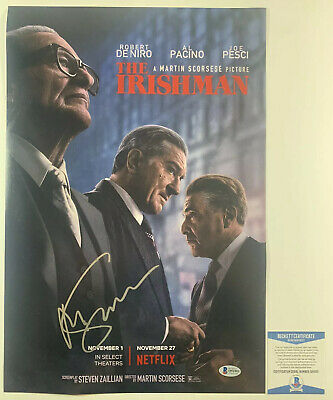 MARTIN SCORSESE SIGNED THE IRISHMAN 12x18 PHOTO AUTHENTIC BAS COA #Q91993