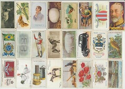 155 Cigarette Cards c.1910-1930's (GOOD-FAIR) (Var. Issuers & Subjects) All Diff