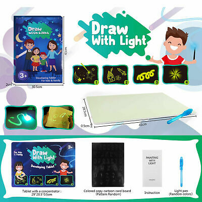 Sensory LED Drawing Board Kids DIY Fluorescent Fun And Developing Creative Toys