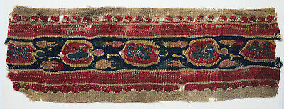Ancient Coptic Textile Fragment -Fruits Pattern,Belt-Shaped,Christian Arts,Egypt
