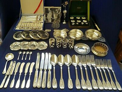 """Collectable 80pcs Silver """"40pcs Sterling Silver + 40pcs Silver Plate""""."""