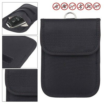 RFID Signal Blocking Bag Signal Shielding Pouch Wallet Case for Car Key Fob UK