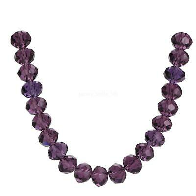 Beads Making 3-18mm Glass Rondelle Crystal Faceted Spacer Wholesale Loose Violet