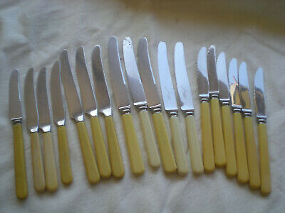 Vintage Faux Bone Handle Knives By Grosvenor Firth Brearley