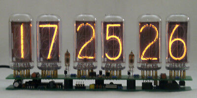 6 Digit In-18 Big Nixie Clock , 2 Alarm , Without Tubes
