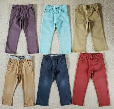 Boys Jeans Bundle Age 2-3 Years - Coloured Trousers