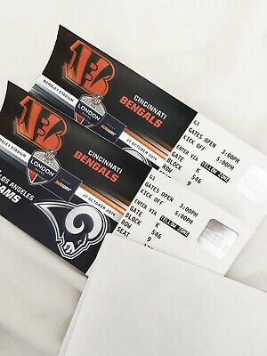 NFL TICKETS Wembley, London - Cincinnati Bengals Vs LA Rams (27.10.2019)